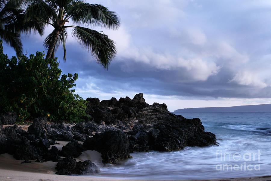 I Ke Kai Hawanawana Eia Kuu Lei Aloha - Paako Beach Maui Hawaii Photograph