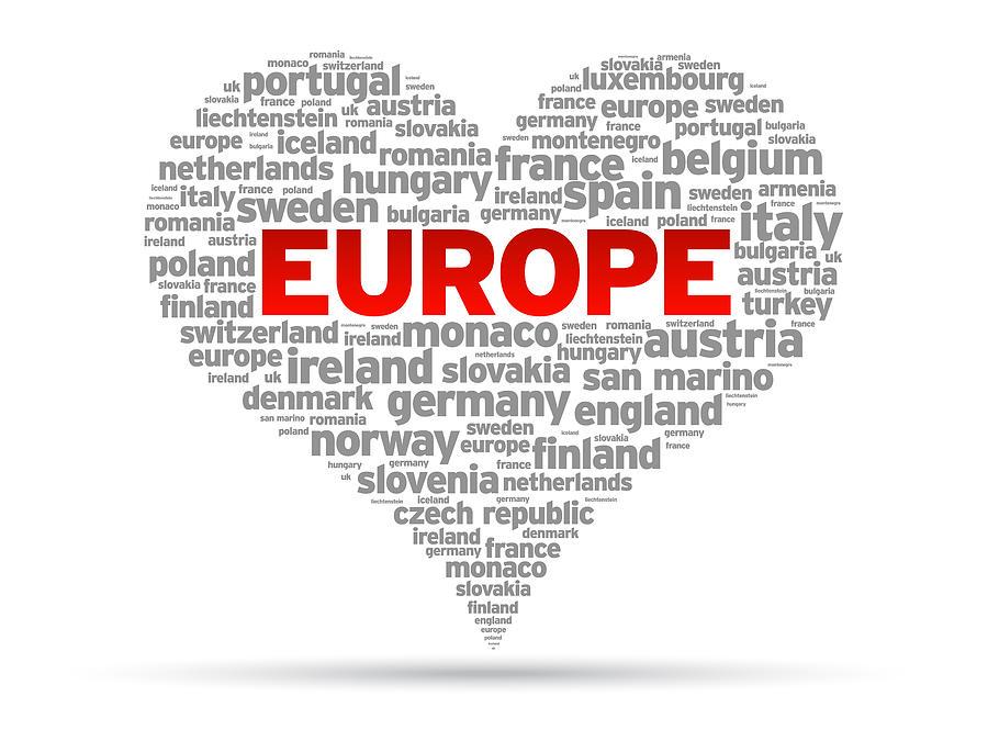 I Love Europe Drawing