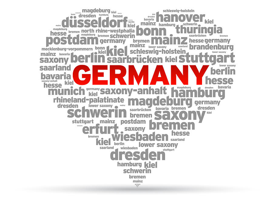 Germany Drawing - I Love Germany by Aged Pixel