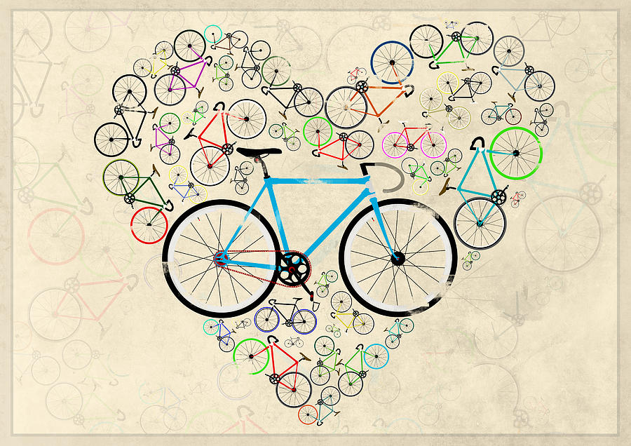 I Love My Bike Digital Art