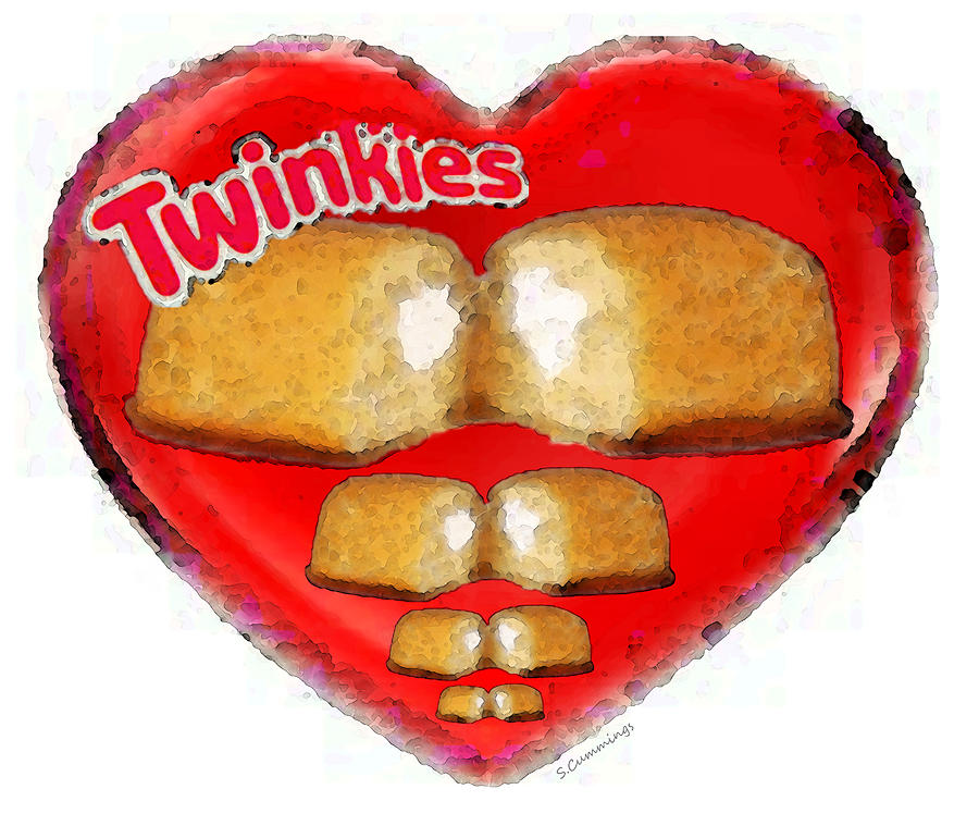 I Love Twinkies - Hostess Snack Cake Painting  - I Love Twinkies - Hostess Snack Cake Fine Art Print