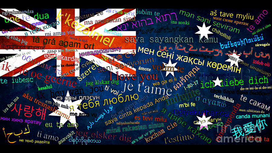 I Love You Australia Digital Art  - I Love You Australia Fine Art Print