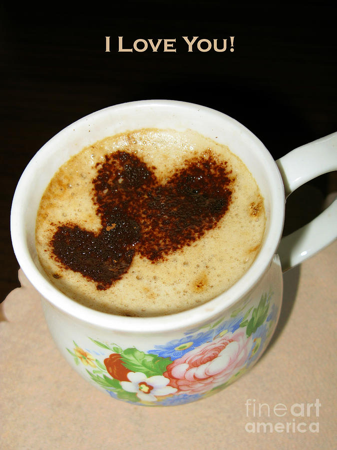 I Love You. Hearts In Coffee Series Photograph