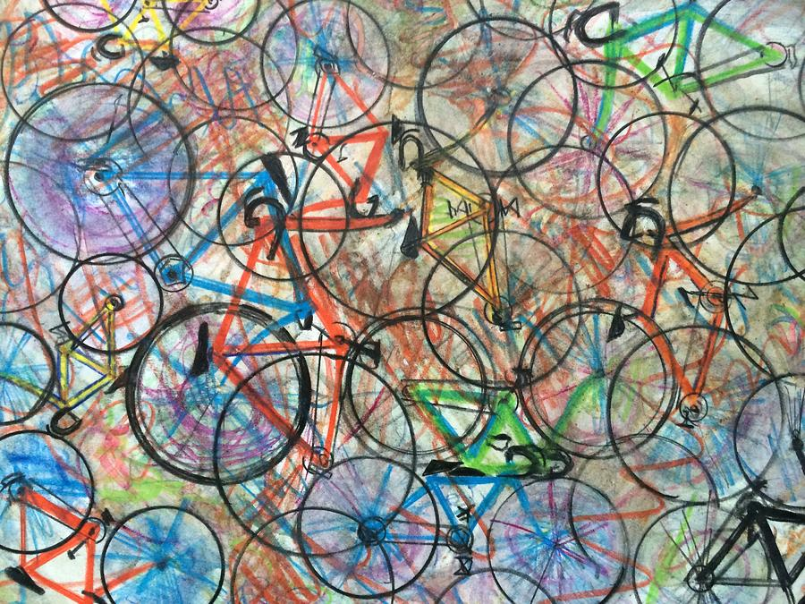 Abstract Painting - I Want To Ride My Bicycle Bicycle  by Scott French