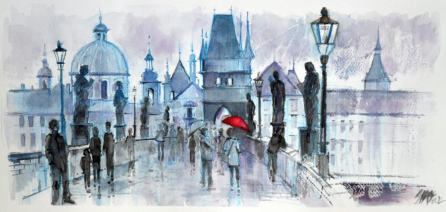 I Was In Prague. Painting  - I Was In Prague. Fine Art Print