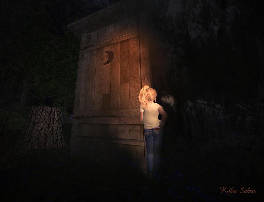 Outhouse Digital Art - I Was Six by Kylie Sabra