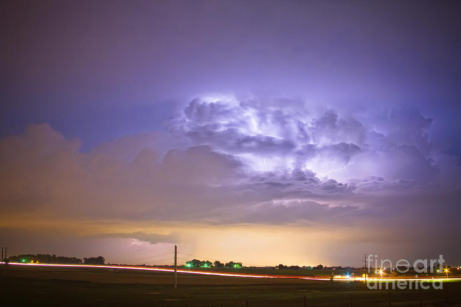 Lightning Photograph - I25 Intra-cloud Lightning Strikes by James BO  Insogna
