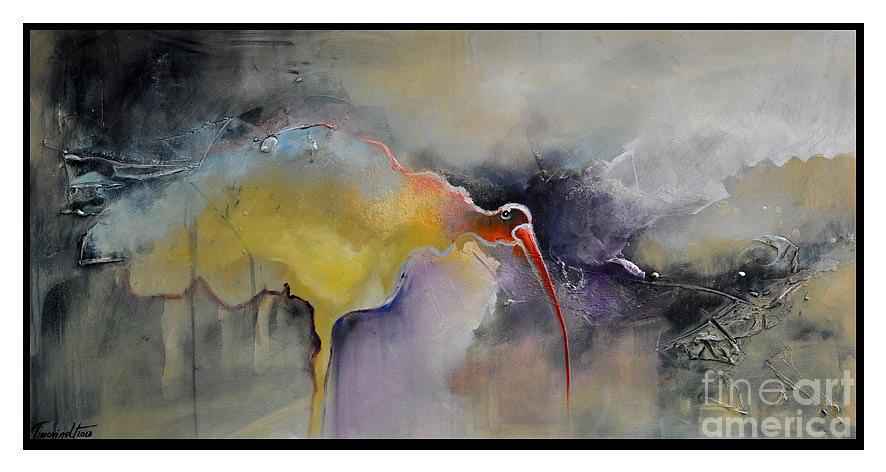 Ibis Painting - Ibis by David Figielek