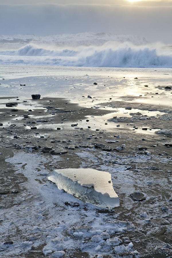 Ice And Waves Photograph  - Ice And Waves Fine Art Print