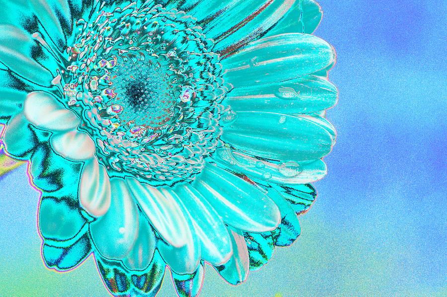 Blue Digital Art - Ice Blue by Carol Lynch