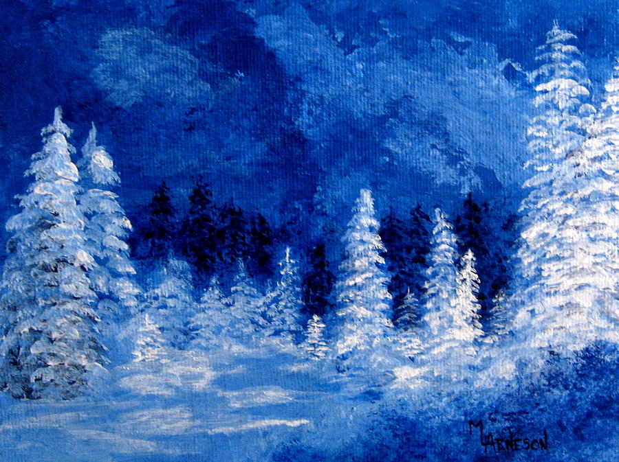 Acrylic Winter Landscape Paintings