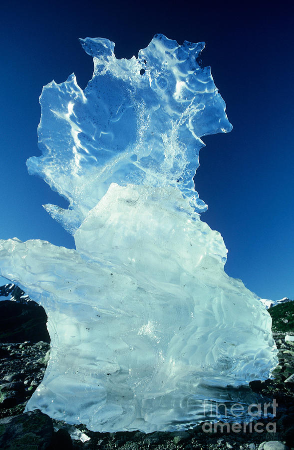 Alaska Scenic Photograph - Ice Formation by Art Wolfe