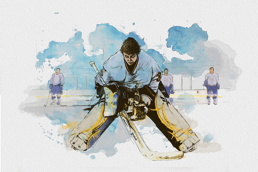 Ice Hockey Painting  - Ice Hockey Fine Art Print