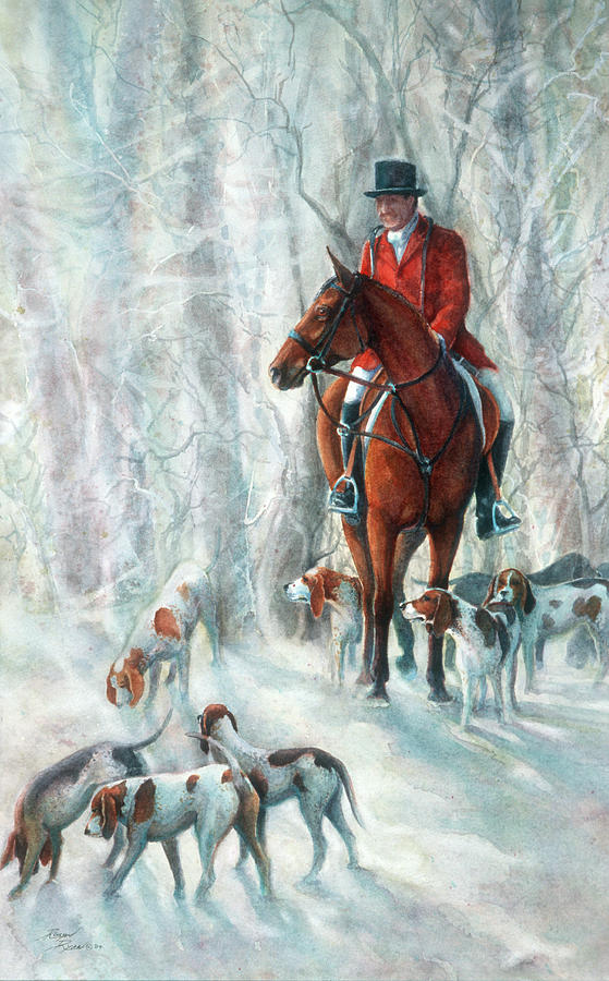 Woods Painting - Ice Hounds by Robyn Ryan