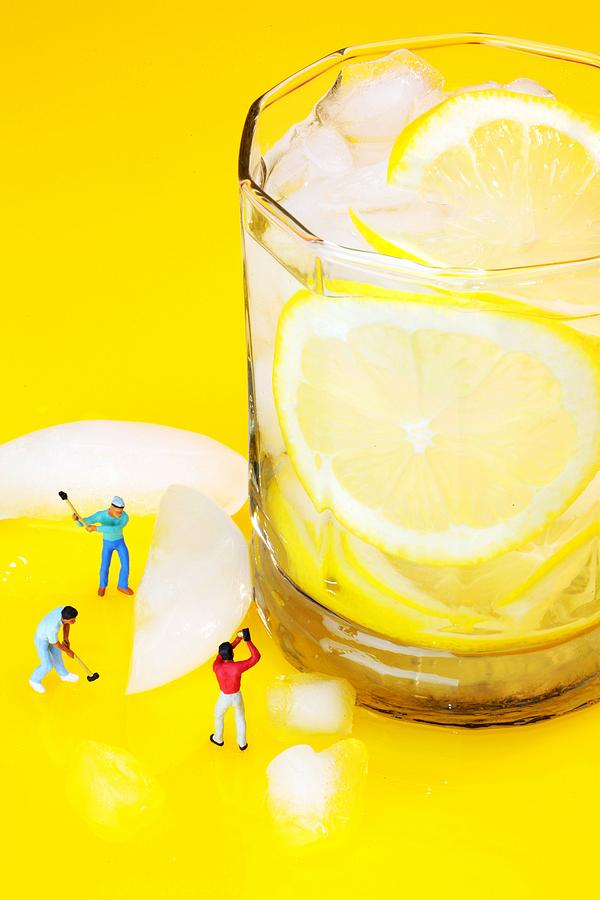Ice Photograph - Ice Making For Lemonade Little People On Food by Paul Ge