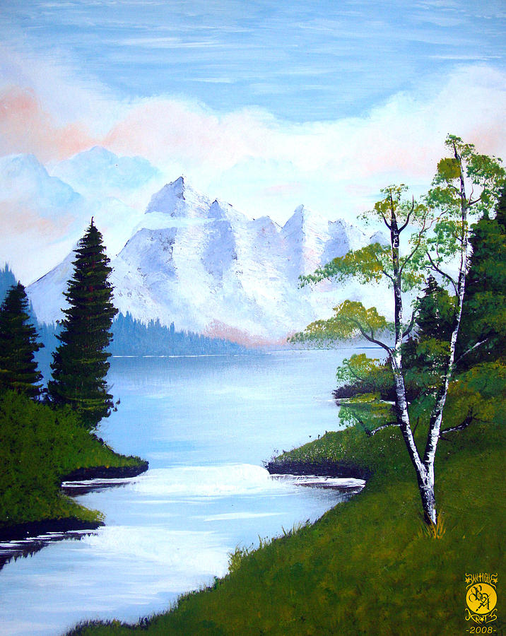 Ice Mountain Painting
