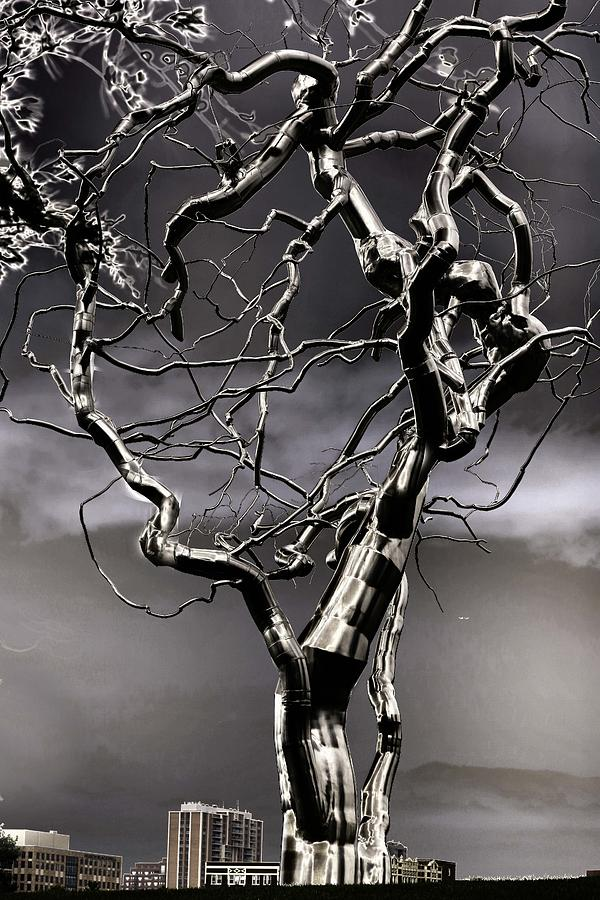 Ice Veins In The Sky Sculpture  - Ice Veins In The Sky Fine Art Print