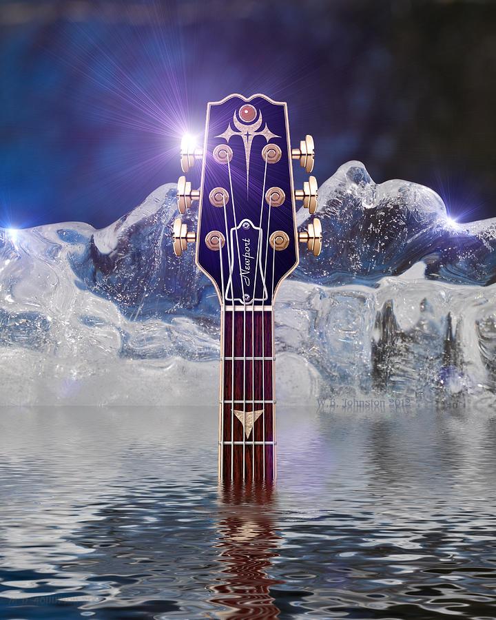 Iceberg Blues Digital Art