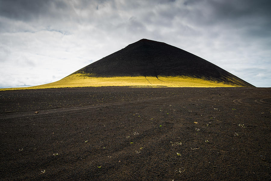 Iceland minimalist landscape brown black yellow photograph for Minimal art landscape