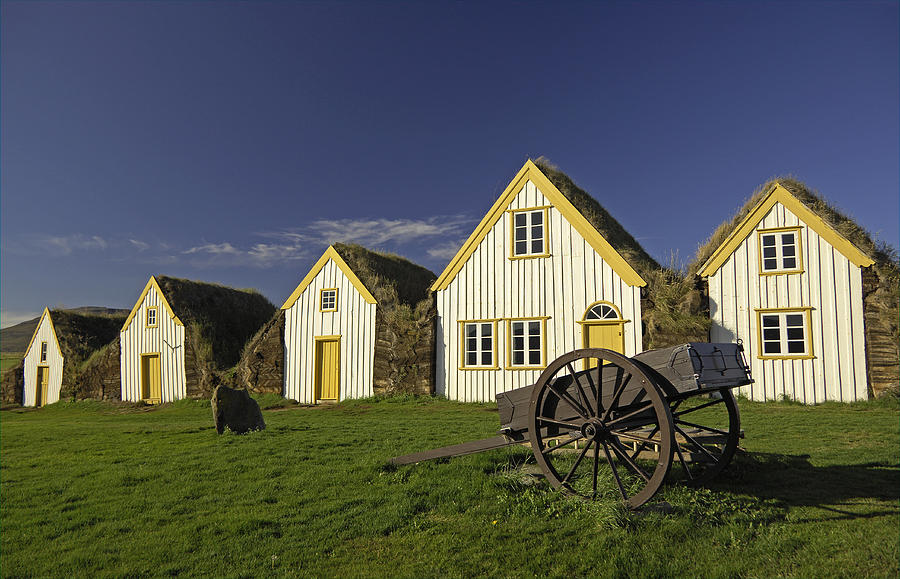 Icelandic Turf Houses Photograph  - Icelandic Turf Houses Fine Art Print