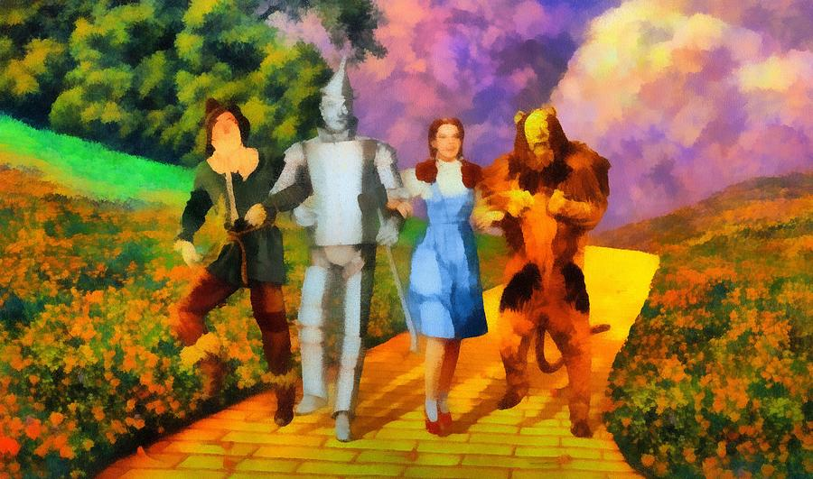 Iconic Wizard Of Oz Painting