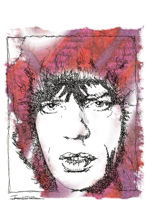 Icons - Mick Jagger Painting