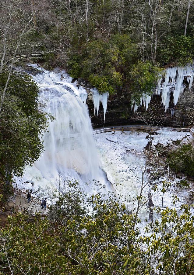 Season Photograph - Icy Waterfall by Susan Leggett