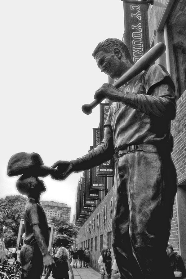 Ted Williams And The Boy Photograph - Idol by Joann Vitali