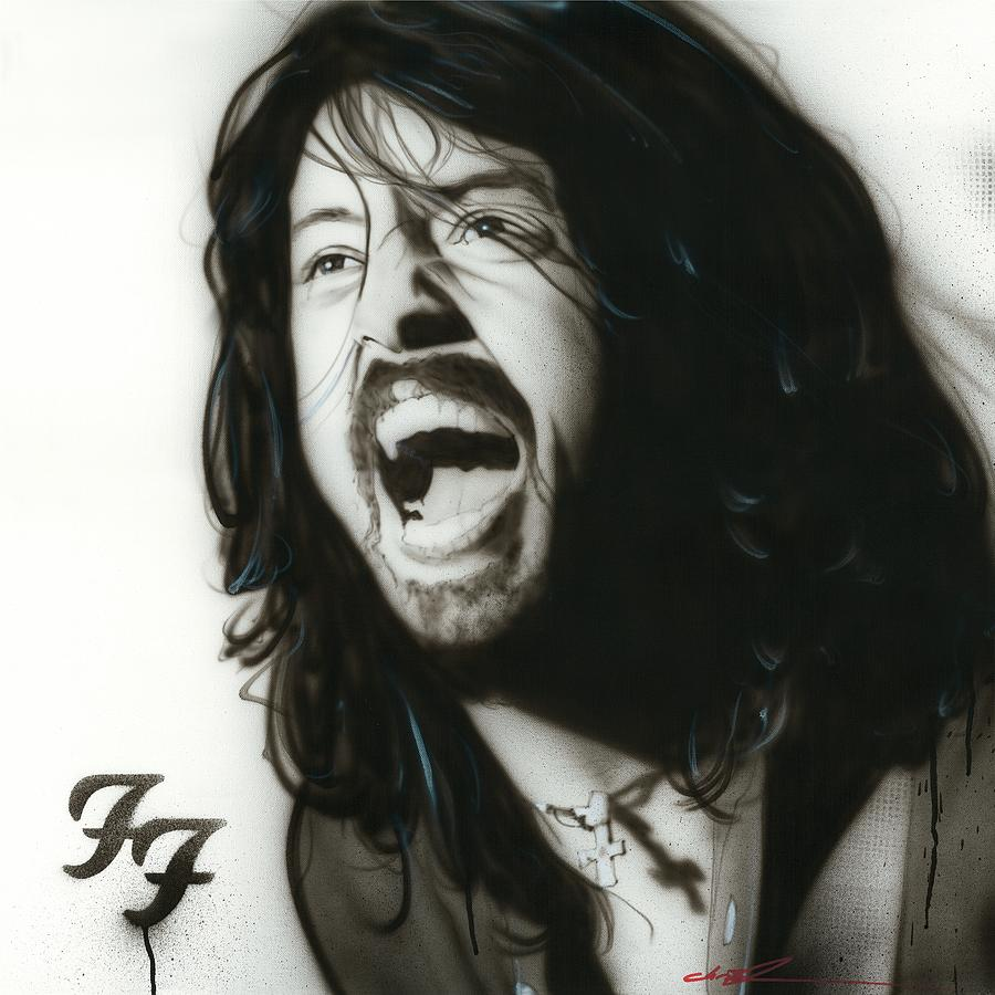 Dave Grohl Painting - if Everything Could Ever Feel This Real Forever by Christian Chapman Art