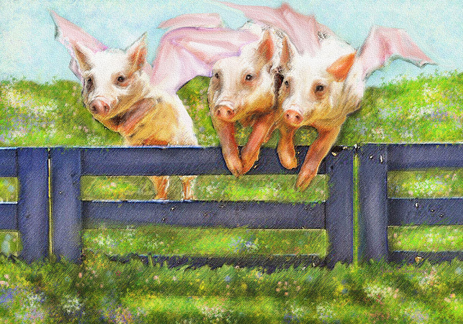 If Pigs Could Fly Digital Art