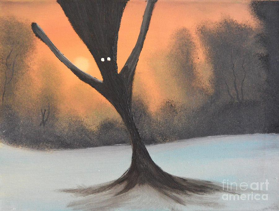 If You Go Into The Woods Today Painting