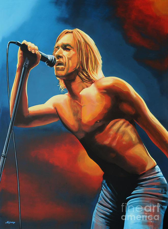 Iggy Pop Painting  - Iggy Pop Fine Art Print