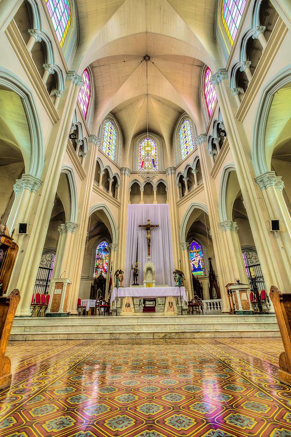 Iglesia De San Isidro De Coronado In Costa Rica Vertical Photograph