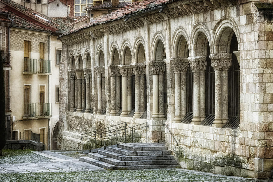 Ancient Photograph - Iglesia De San Millan by Joan Carroll