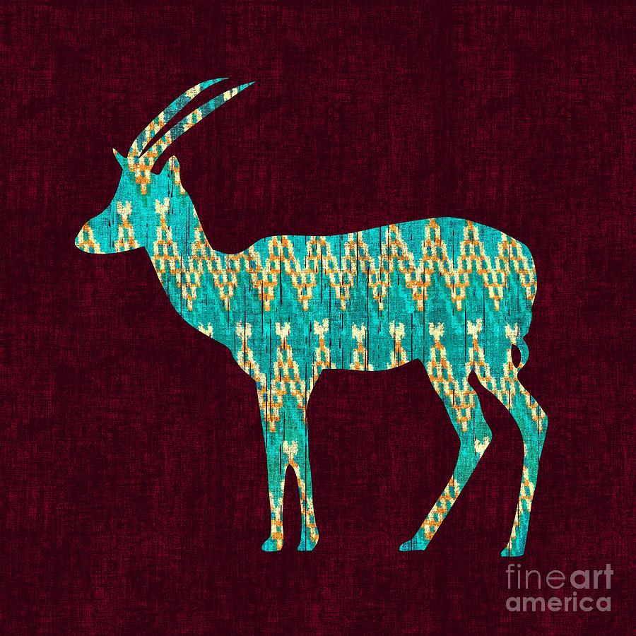 Ikat Antelope Digital Art