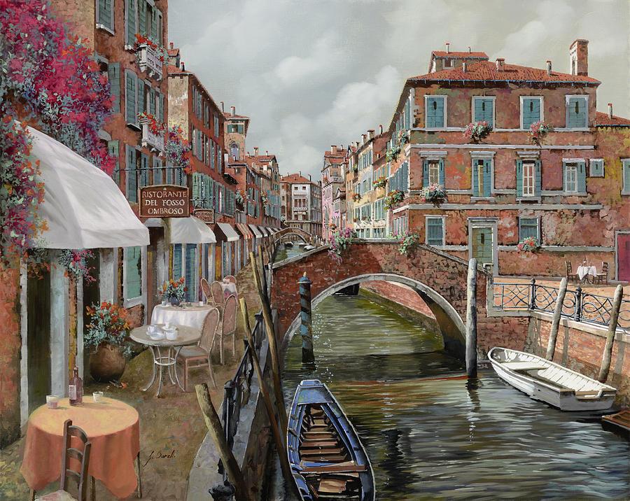 Venice Painting - Il Fosso Ombroso by Guido Borelli
