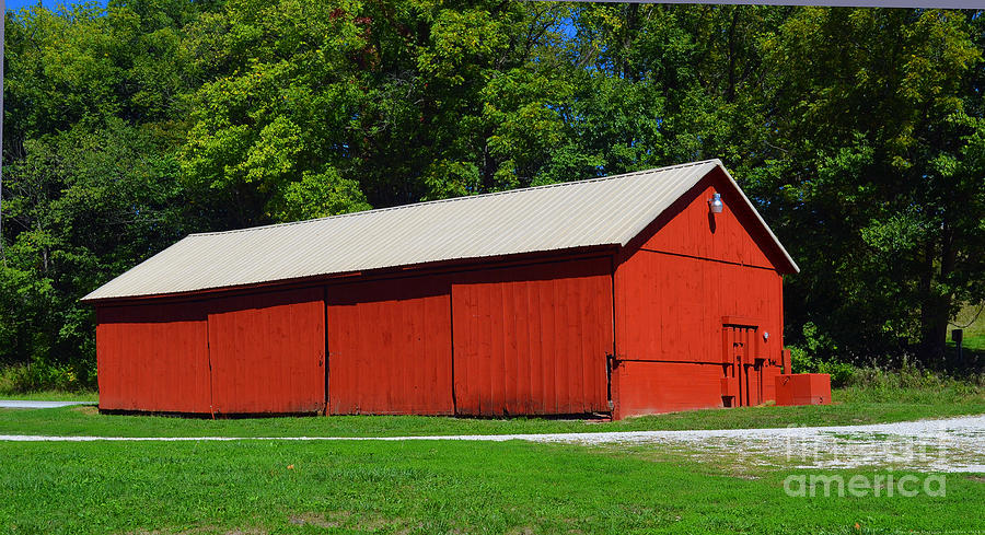 Illinois Red Barn Photograph