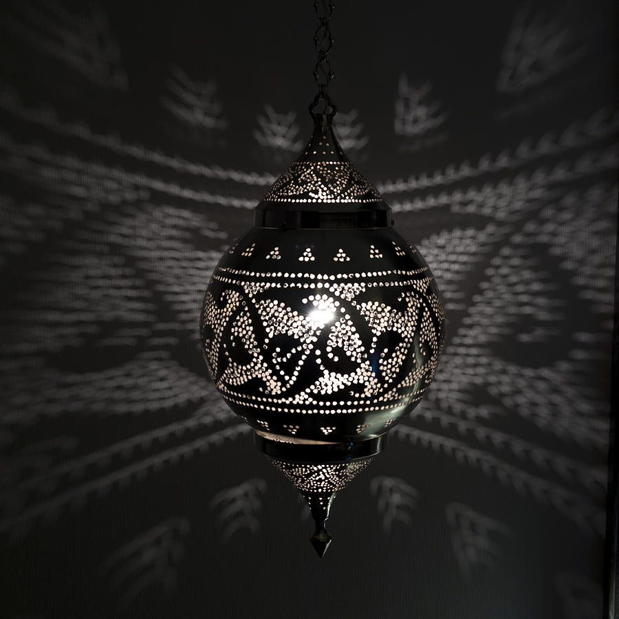 Illuminated Hanging Light Fixture Photograph