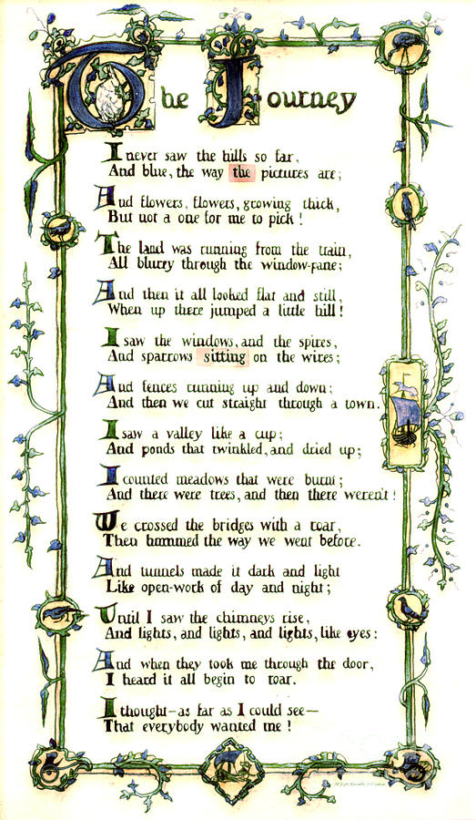 Illuminated Poem 1903 Photograph  - Illuminated Poem 1903 Fine Art Print