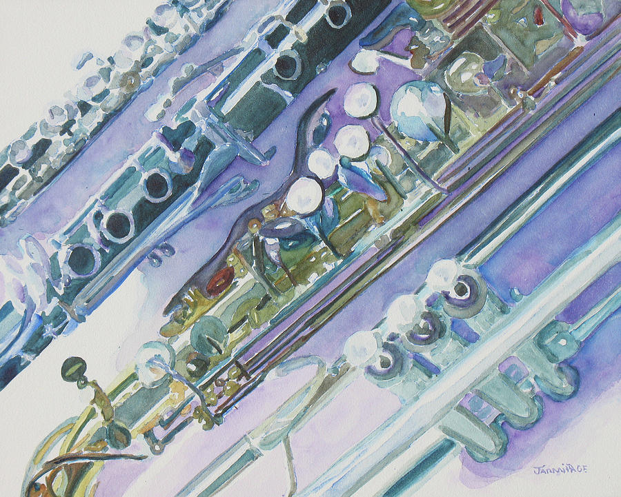 Instruments Painting - Im Still Painting On The Keys by Jenny Armitage