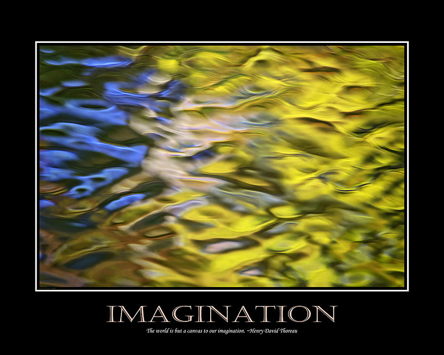 Imagination  Inspirational Motivational Poster Art Digital Art