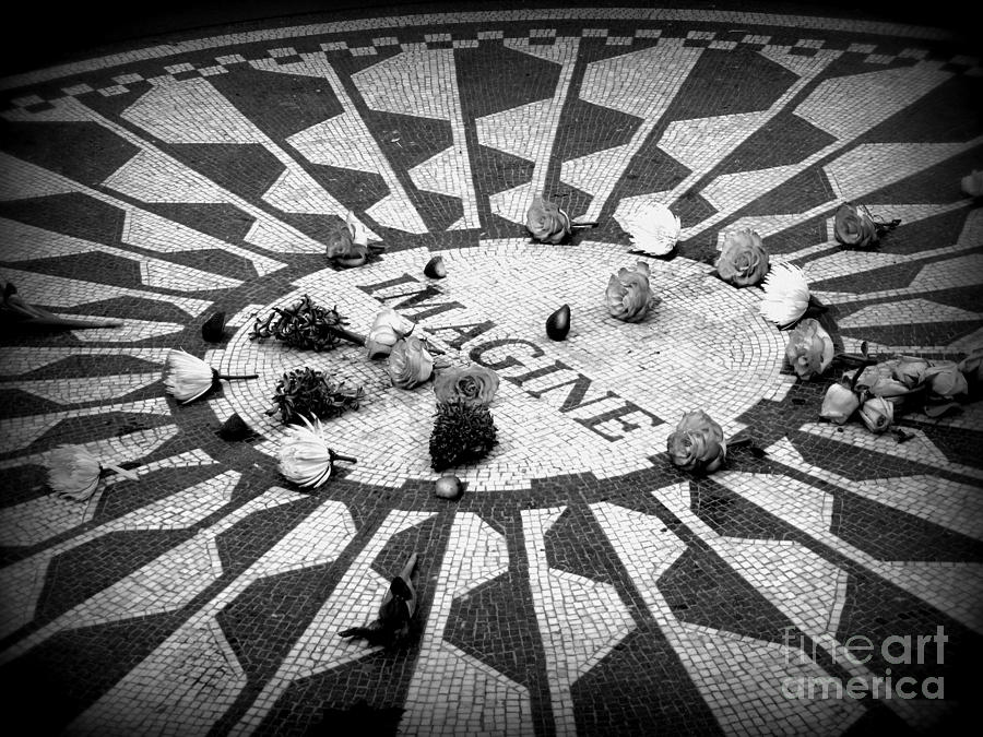 Imagine Memorial In New York City. Photograph  - Imagine Memorial In New York City. Fine Art Print