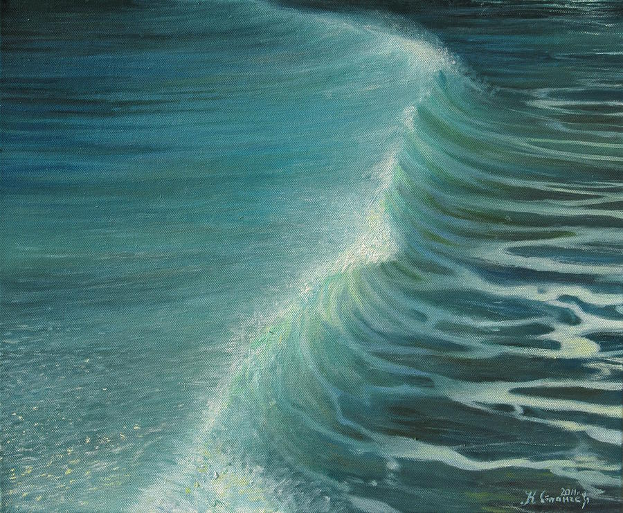 Impetus Summer Wave Painting  - Impetus Summer Wave Fine Art Print