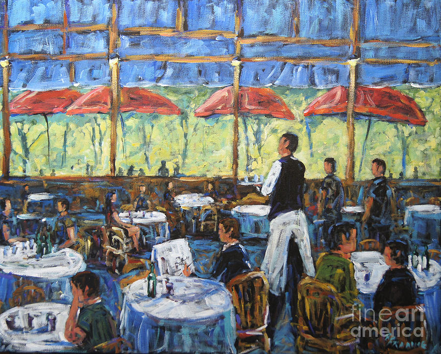 Impresionist Cafe By Prankearts Painting - Impresionnist Cafe By Prankearts by Richard T Pranke
