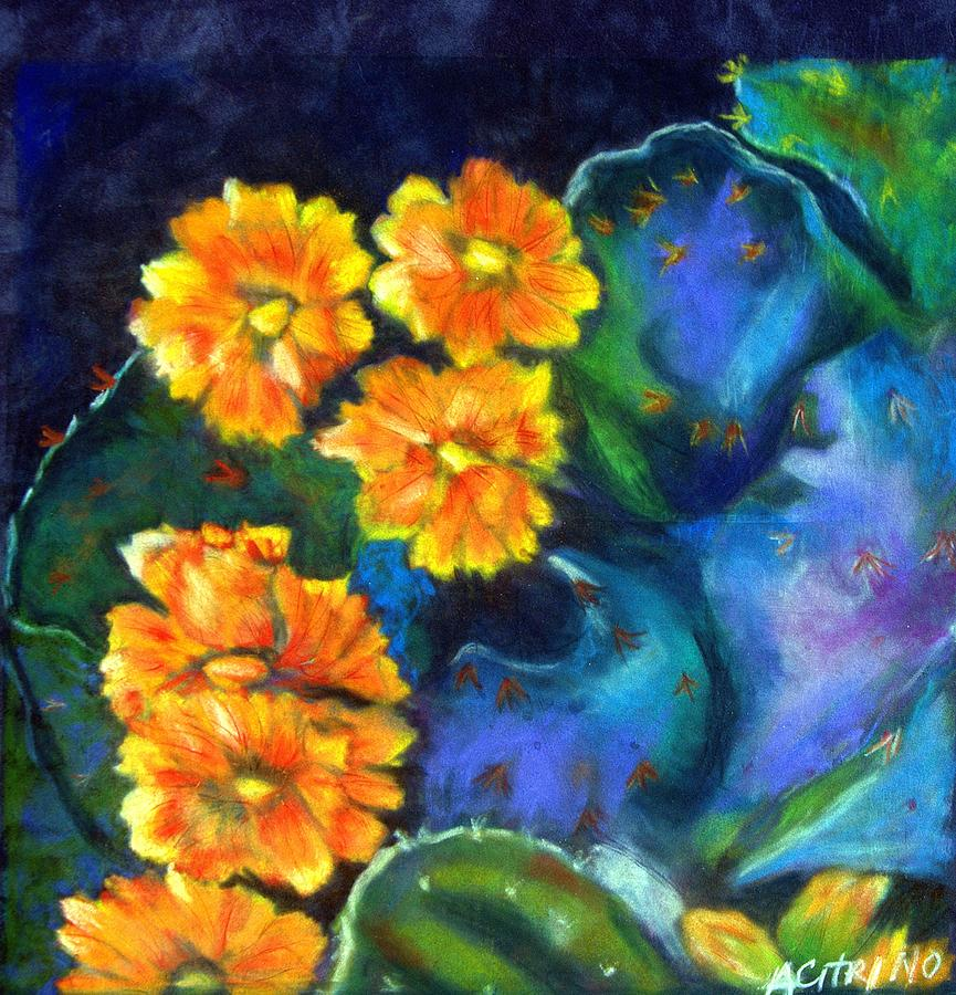 Impression Of Cactus In Bloom Pastel Pastel