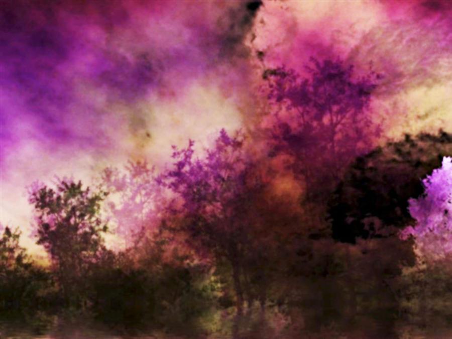 Art Digital Art - Impressionism Style Landscape by Maggie Vlazny