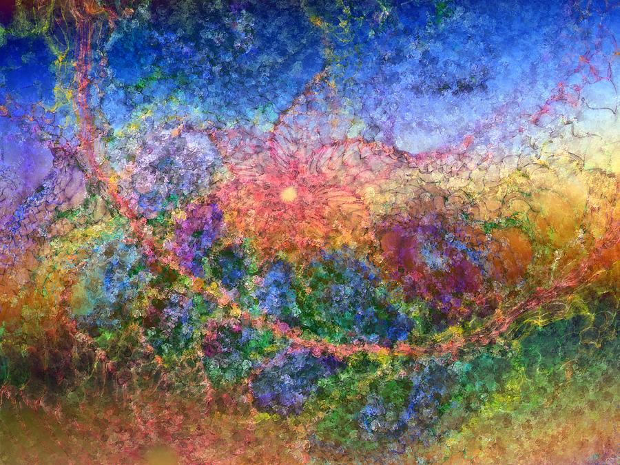 Abstract Digital Art - Impressionist Dreams 1 by Casey Kotas