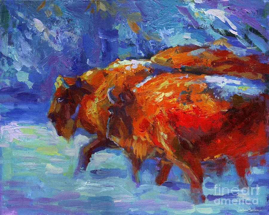 Impressionistic Buffalo Painting Painting