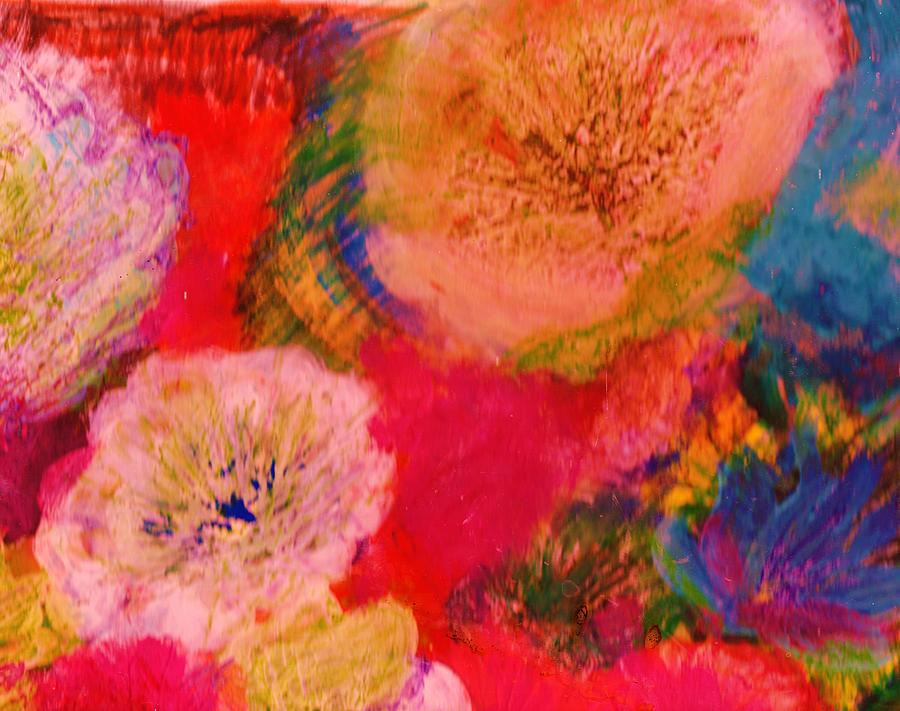 Impressionistic Flowers From The Imagination Painting