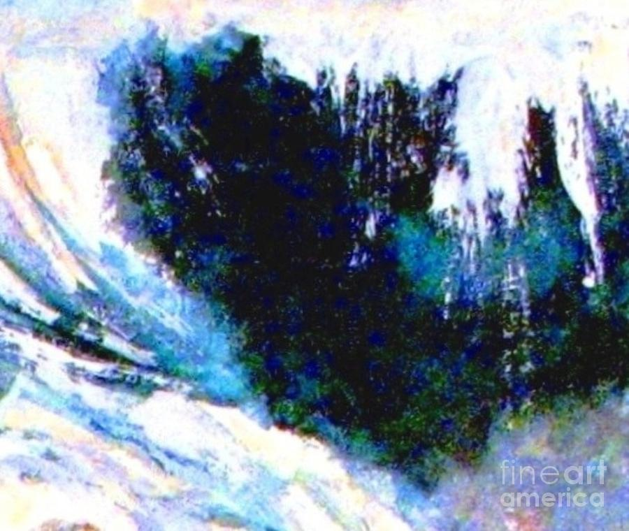 Impressionistic Waterfall Painting